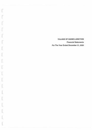 Village of Haines Junction 2020 Audited Financial Statements